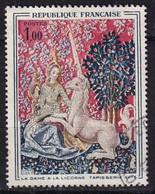 FRANCE - Dame à La Licorne Avec Décalage Du Rouge Vers La Gauche - Variétés: 1960-69 Oblitérés