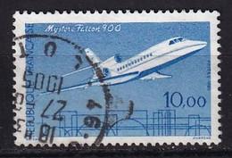 FRANCE - 10 F. Mystère Falcon 900 De 1985 Oblitéré En 1905! - Variétés: 1980-89 Oblitérés
