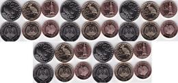 Sudan South - 5 Pcs X Set 3 Coins 10 20 50 Piastres 2015 UNC Lemberg-Zp - South Sudan
