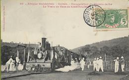 GUINEE  Inauguration Du Chemin De Fer - Le Train En  Gare De KAKOULIMA - French Guinea