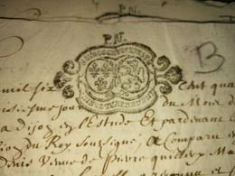 Bourgogne Et Bresse PN 1692  3pages - Timbri Generalità