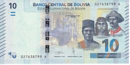 BILLETE DE BOLIVIA DE 10 BOLIVIANOS DEL AÑO 2018 SIN CIRCULAR (UNCIRCULATED) (BANKNOTE) COLIBRI - Bolivia