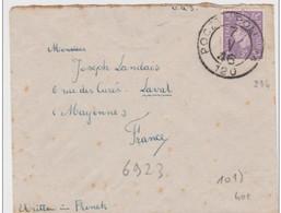 GB Lettre De Pologne 1946 Poczta Poland Pour Laval Mayenne - Londoner Regierung (Exil)