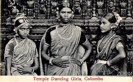 "COLOMBO ""1910"" - CPA PS NV RR - TEMPLE DANCING GIRLS - M B UDUMAN'S N° 41 -Pub By Travellers Mart, 14 York & Baillie St. - Sri Lanka (Ceylon)"