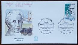 FDC 1986 - YT N°2399 - MARC SEGUIN - ANNONAY - 1980-1989