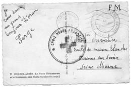 """ALGERIE.1956. 1  CARTE POSTALE F.M.""""701ème GROUPE D'ARTILLERIE GUIDEE"""".""""CROIX-ROUGE FRANCAISE"""". - War Of Algeria"""