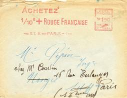 """FRANCE.1944.RARE OMEC """"ACHETEZ 1/10e CROIX-ROUGE FRANCAISE"""".ERREUR... - Red Cross"""
