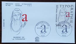 FDC 1986 - YT N°2407 - TYPOGRAPHIE / RAYMOND GID - PARIS - 1980-1989