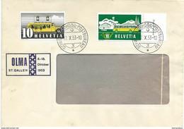 """125 - 99 - Envelope Avec Oblit Spéciale """"OLMA 1953"""" St Gallen - Marcofilie"""
