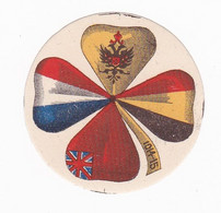 Vignette Militaire Delandre - Patriotique - Trèfle - 1914-15 - Militario
