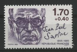 """N° 2357b Jean Paul Sartre VARIETE """"POINT SUR LE I De FRANCAISE"""". Neuf ** (MNH). TB - Curiosa: 1960-69 Postfris"""