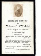 Image , Post Mortem- Souvenez-vous Devant Dieu E.TITARD Domfront 1893 - Godsdienst & Esoterisme