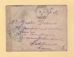 Fontguenand - Indre - 19-10-1939 - Censure IC 123 - Guerra De 1939-45