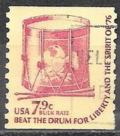 1976 7.9 Cents, Drum, Coil, Used - Usati