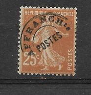 FRANCE   PREO  N° 57   **  NEUF SANS CHARNIERE - 1893-1947