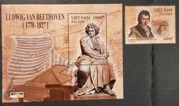Vietnam Viet Nam MNH Perf Stamp & Souvenir Sheet 2020 : 250th Birth Anniversary Of Ludwig Van Beethoven (Ms1139) - Vietnam