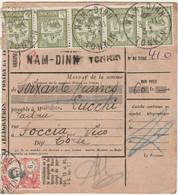 INDOCHINE - TONKIN - Oblitération NAM DINH Sur MANDAT CARTE - Covers & Documents