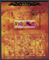 285 - CHRISTMAS 2006 - Yvert Feuille 573 - An Lunaire Chien - Neuf ** (MNH) Sans Trace De Charniere - Christmas Island
