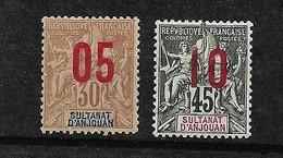 Anjouan N°  25 Et 27 Neufs  *      B/TB        Soldé    Le Moins Cher Du Site ! ! ! - Unused Stamps