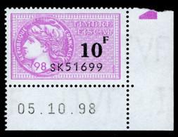 Timbre Fiscal (fiscaux) - Série Fiscale Unifiée (SFU) Neuf N° 504 - Coin Daté Du 05/10/1998 - Revenue Stamps