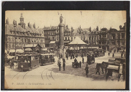 59196 . LILLE . LA GRAND PLACE . LL . TRAMWAY . ANIMATION - Lille