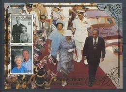 285 - NAURU 1997 - Yvert BF 18 - Noces Or Reine Elisabeth II - Neuf ** (MNH) Sans Trace De Charniere - Nauru