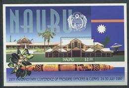 285 - NAURU 1997 - Yvert BF 19 - Conference Au Parlement Edifice - Neuf ** (MNH) Sans Trace De Charniere - Nauru