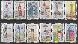 2020 FRANCE Adhesif 1897-908 Oblitérés, Phares, Série Complète - Adhesive Stamps