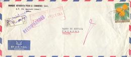1963 Raccomandata Da INTRA BANK Libano   Per Palermo - Líbano