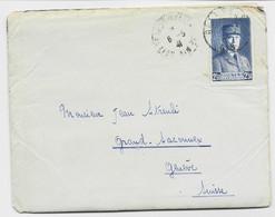 PETAIN 2FR50 BLEU N°473 SEUL LETTRE BELLEGARDE AIN 6.5.1941 AIN POUR GENEVE POUR SUISSE  AU TARIF FROTALIER 2EME RARE - 1941-42 Pétain