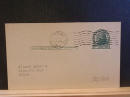 92/300 POSTAL CARD Usa  PIQUAGE VERSO  1948 - 1941-60