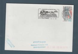 Flamme Dpt 46 : CASTELFRANC (SCOTEM N° 11748 émise Le 06/06/1991) : Une Bastide Au Bord De L'eau (TP N° 2704) - Mechanische Stempels (reclame)