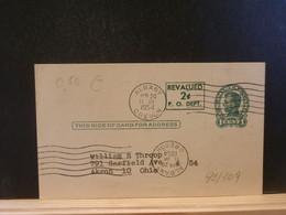 92/309  POSTAL CARD Usa  PIQUAGE VERSO1933 - 1941-60