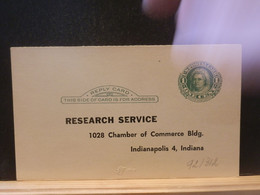 92/312 POSTAL CARD Usa  PIQUAGE ECTO/VERSO  XX - 1941-60