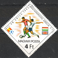 ENGLAND Vs. HUNGARY Player - 1962 FIFA World Cup CHILE - Football Soccer / Flag - Hungary 1982 SPAIN  - Used - 1962 – Chili