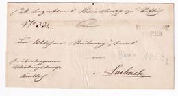 Prephilately? Letter Cover Posted 1853 Poesendorf (Hudo) To Laibach (Ljubljana) B201210 - Slovenia