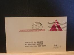 92/339  POSTAL CARD Usa  PIQUAGE VERSO 1956 - 1941-60