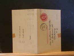 92/350 POSTAL CARD Usa  PIQUAGE VERSO 1954 WITH  REPLY - 1941-60