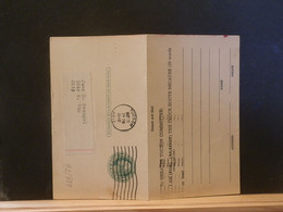 92/351 POSTAL CARD Usa  PIQUAGE VERSO 1948 WITH  REPLY - 1941-60