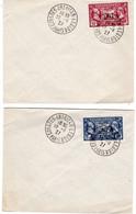 Légion Américaine 90c Et 1,50 Sur Lettre Oblitération Congrès Américan Légion Paris 19 9 1927 - 1921-1960: Période Moderne