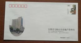 Motorcycle,bicycle Cycling,China 2002 Maanshan Real Estate Administration Bureau Advertising Postal Stationery Envelop - Ciclismo