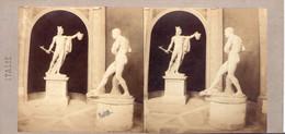 Carton Stéréoscopique. Lot De 3. Sculptures - Stereoscopio