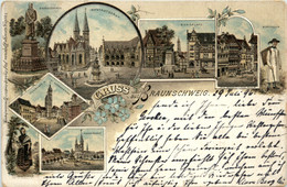 Gruss Aus Braunschweig - Litho - Braunschweig