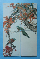 China Cina Puzzle X4 Bird Birds Uccello Pajaro Aves Pigeon Dove YL063 - Otros