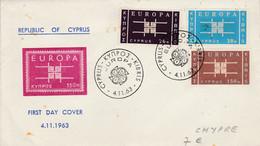 CHYPRE FDC EUROPA 1963 - 1963