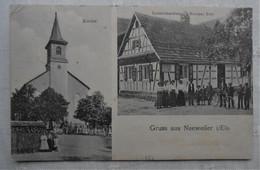 CPA 1913 Gruss Aus Neeweiler I/Els - Neuwiller/  Spezereihandlung Nicolas Roth & Kirche - Altri Comuni