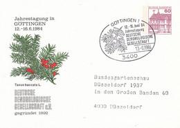 PP 106/140  Jahretagung In Göttingen 12.-16.6.1984 - Deutsche Dendrologische Gesellschaft E.V. Gegründet 1892, Göttingen - Privatpostkarten - Gebraucht