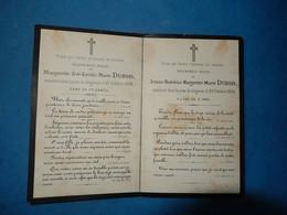 GENEALOGIE FAIRE PART DECES  ANGES TROIS ENFANTS QUELQUES JOURS D INTERVALLE TRISTESSE INCOMPREHENSION 1884 DUBOIS - Avvisi Di Necrologio