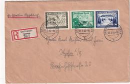 ALLEMAGNE 1940 LETTRE RECOMMANDEE DE GREIFSWALD-ELDENA AVEC CACHET ARRIVEE - Covers & Documents