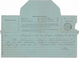 1895 / Télégramme / Cachet D'Orchamps-Vennes / 25 Doubs / Exp De Manouba Madagascar - Telegraph And Telephone